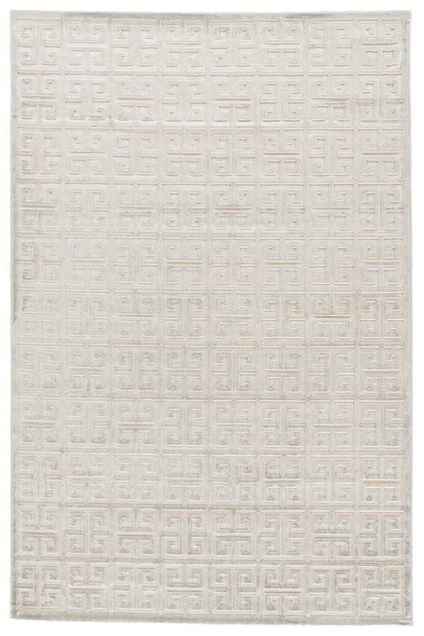 Bright White, Blue (FB-111) Transitional Area Rug
