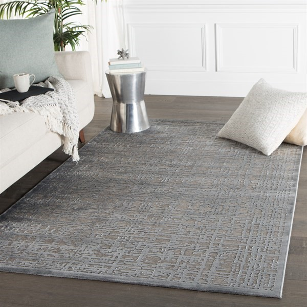 Grey, Silver (FB-107) Contemporary / Modern Area Rug