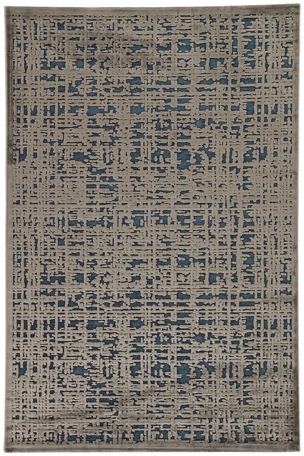 Dress Blue, Gray (FB-108) Transitional Area Rug