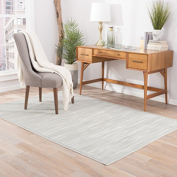 Silver, White (FB-117) Solid Area Rug