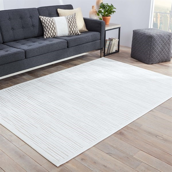 White (FB-53) Solid Area Rug