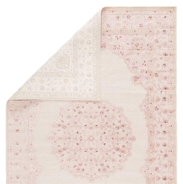Bright White, Pink (FB-123) Mandala Area Rug