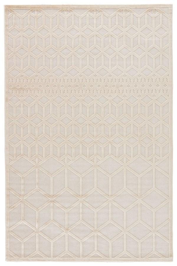 Cream, White (FB-145) Contemporary / Modern Area Rug