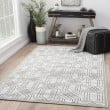 Product Image of White, Dark Gray (FB-161) Contemporary / Modern Area Rug