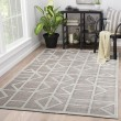 Product Image of Gray, White (FB-154) Contemporary / Modern Area Rug