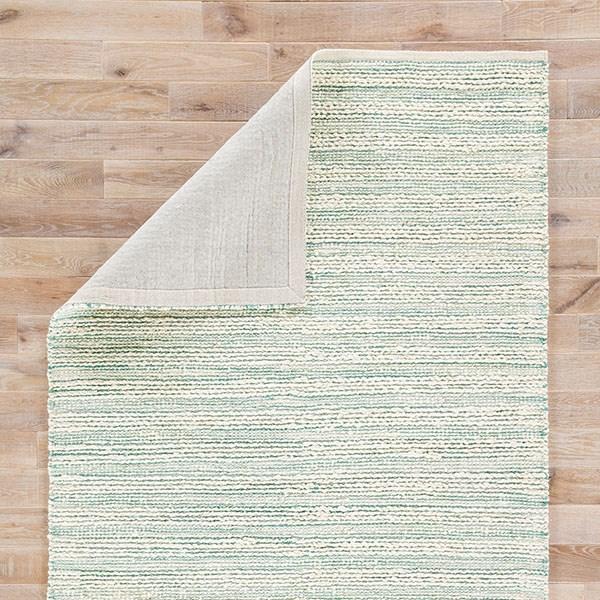 White, Turquoise (HM-27) Rustic / Farmhouse Area Rug