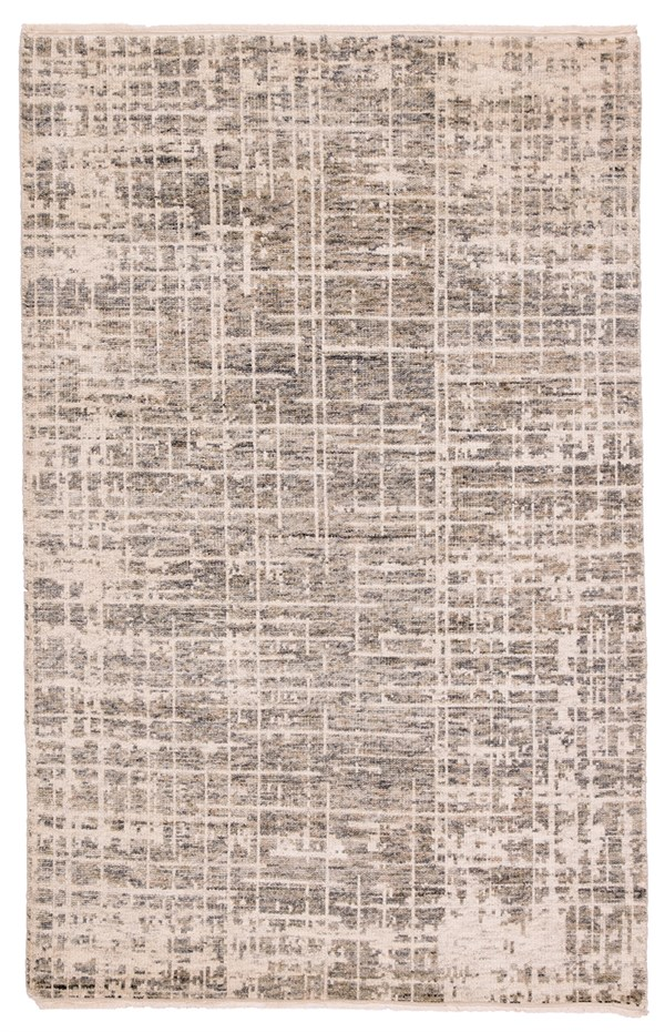 Ivory, Grey (HR-20) Abstract Area Rug
