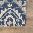 Product Image of Blue, Cream (HAC-15) Rustic / Farmhouse Area Rug