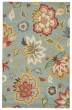 Product Image of Floral / Botanical Light Turquoise (HAC-09) Area Rug