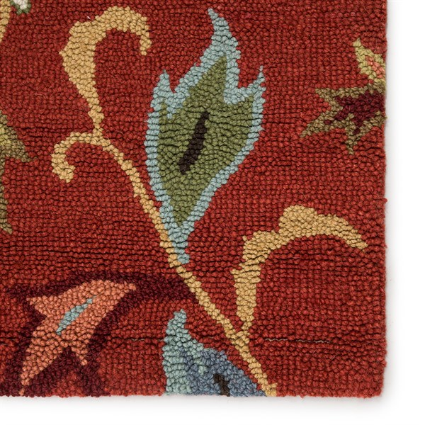 Velvet Red (HAC-11) Floral / Botanical Area Rug