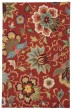 Product Image of Floral / Botanical Velvet Red (HAC-11) Area Rug
