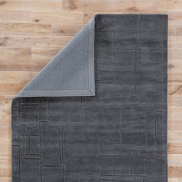 Gray (LOE-42) Textured Solid Area Rug