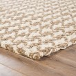 Product Image of White, Taupe (NAT-31) Rustic / Farmhouse Area Rug