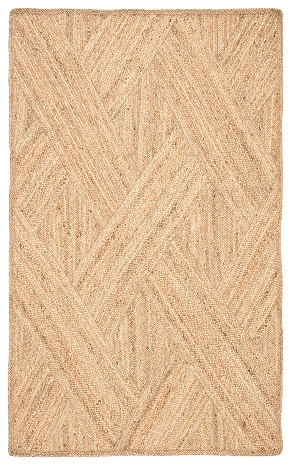 Brown, Ivory (NAT36) Natural Fiber Area Rug