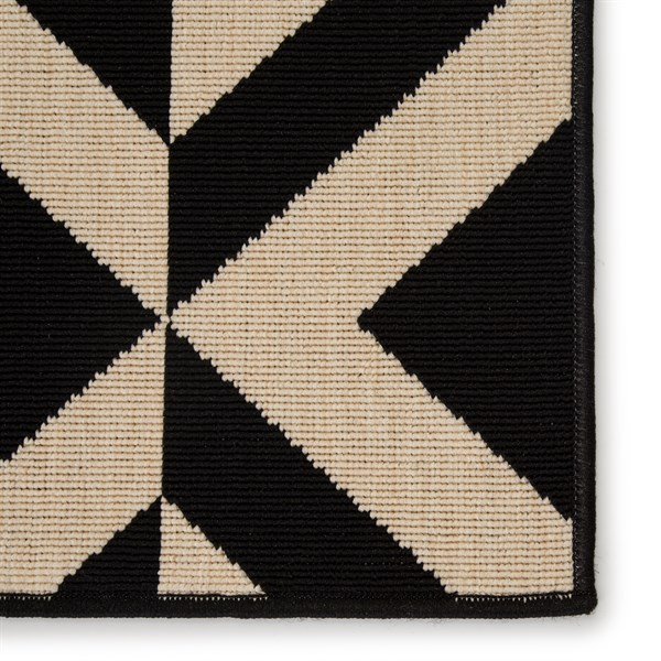 Black (PAO-03) Outdoor / Indoor Area Rug
