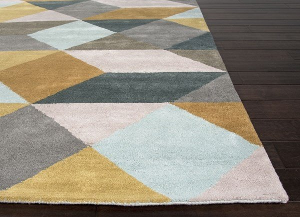 Sea Mist Green, Classic Grey (LST-16) Contemporary / Modern Area Rug