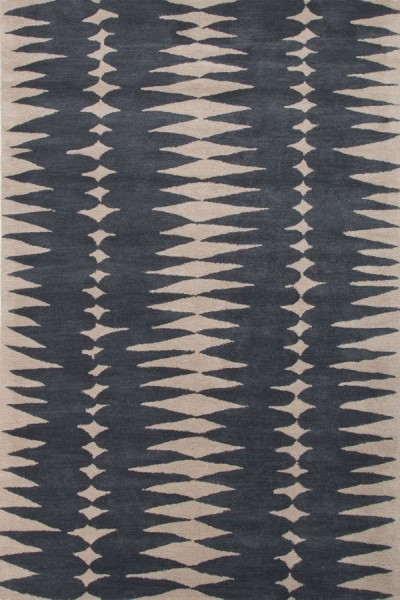 Deep Blue, Dark Ivory (LST-27) Contemporary / Modern Area Rug