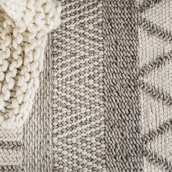 Ivory, Grey (SCD21) Natural Fiber Area Rug
