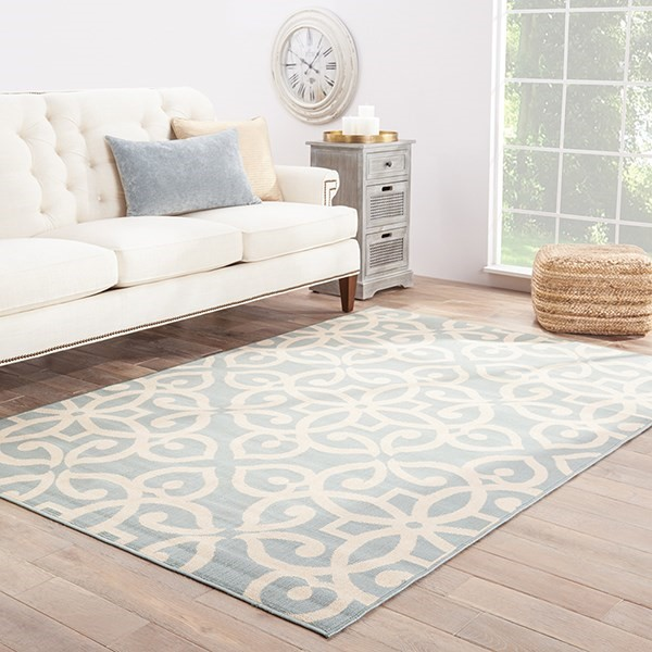 Blue, Taupe (BLO-13) Traditional / Oriental Area Rug
