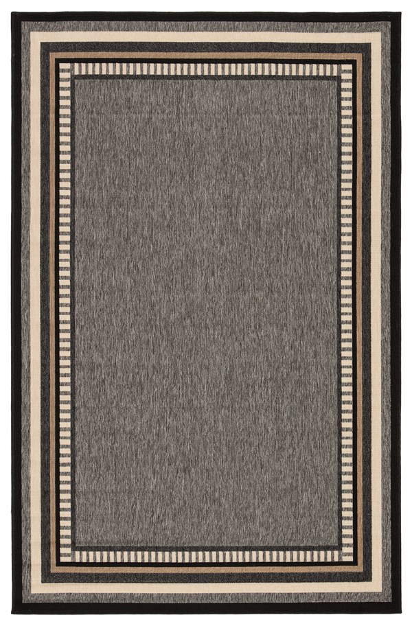 Gray, Taupe (BLO-16) Bordered Area Rug
