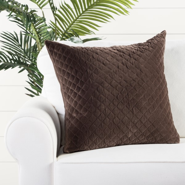 Brown (LAV-03) Solid pillow