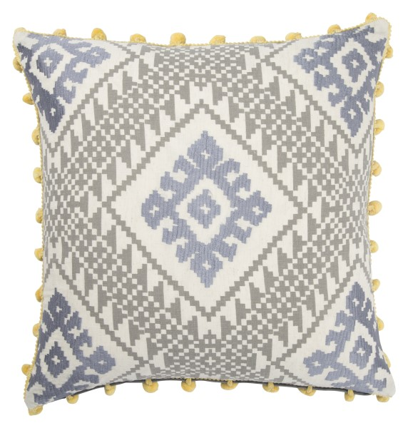 Cement, Gargoyle,Yellow (MNP-01) Moroccan pillow