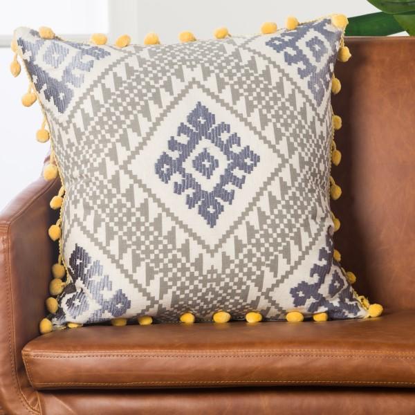 Grey, Yellow (MNP-01) Southwestern pillow