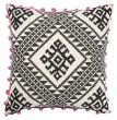 Product Image of Moroccan Cement, Pirate Black, Pink (MNP-02) pillow