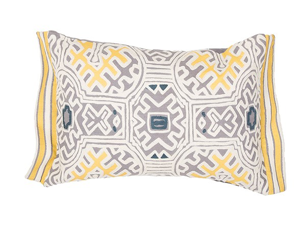 Pirate Black, White Asparagus, Yellow (MNP-05) Moroccan pillow