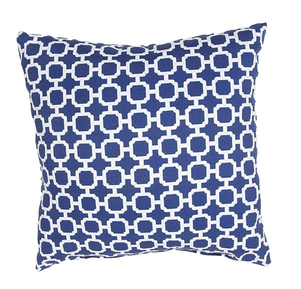 Twilight Blue, Bright White (VER-50) Contemporary / Modern pillow