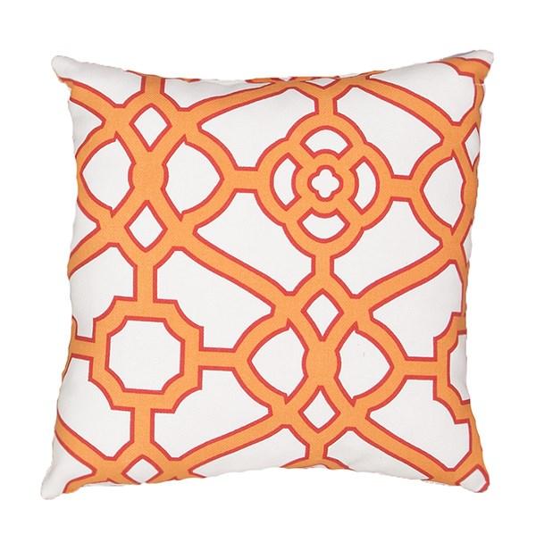 Snow White, Blazing Orange (VER-58) Outdoor / Indoor pillow