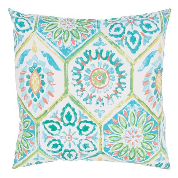 Ivory, Blue, Green (VER-24) Outdoor / Indoor pillow