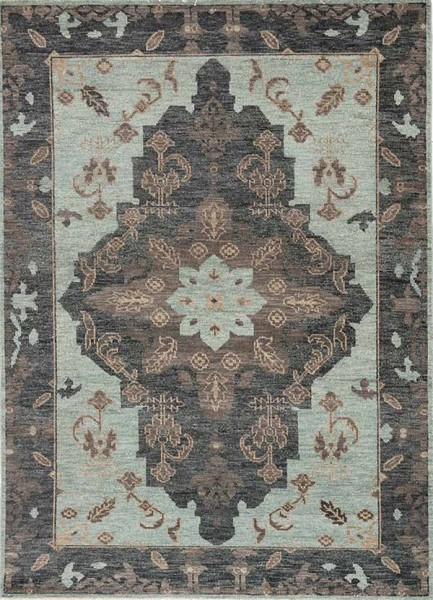 Green, Brown, Black (LIB-09) Traditional / Oriental Area Rug
