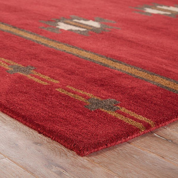 Red, Gray (CBN-02) Southwestern / Lodge Area Rug