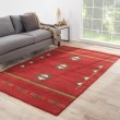 Product Image of Red, Gray (CBN-02) Southwestern / Lodge Area Rug
