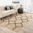 Product Image of Almond Buff, Black (SNK-03) Transitional Area Rug