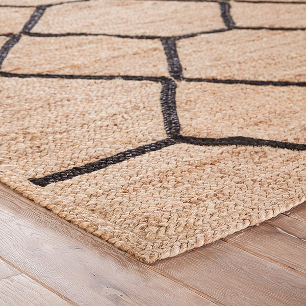 Almond Buff, Black (SNK-03) Transitional Area Rug