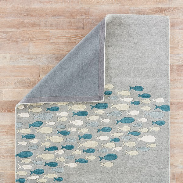 Pastel Blue (COR-03) Beach / Nautical Area Rug