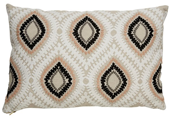 Oatmeal, Taupe, Ivory Moroccan pillow