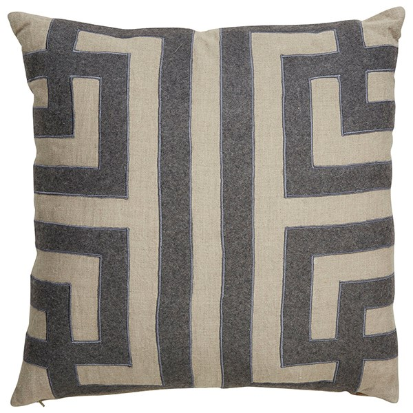 Oatmeal, Taupe, Gray Contemporary / Modern pillow