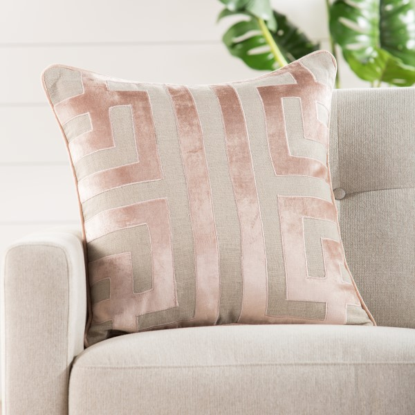 Beige, Pink Contemporary / Modern pillow