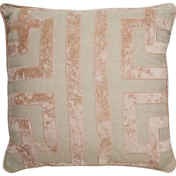 Oatmeal, Cuban Sand Contemporary / Modern pillow