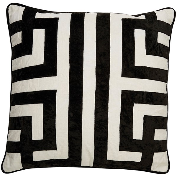 Marshmallow, Jet Black Contemporary / Modern pillow