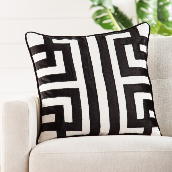 White, Black Contemporary / Modern pillow