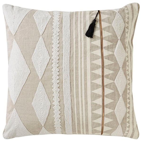 Almond Buff, Bone White Southwestern / Lodge pillow
