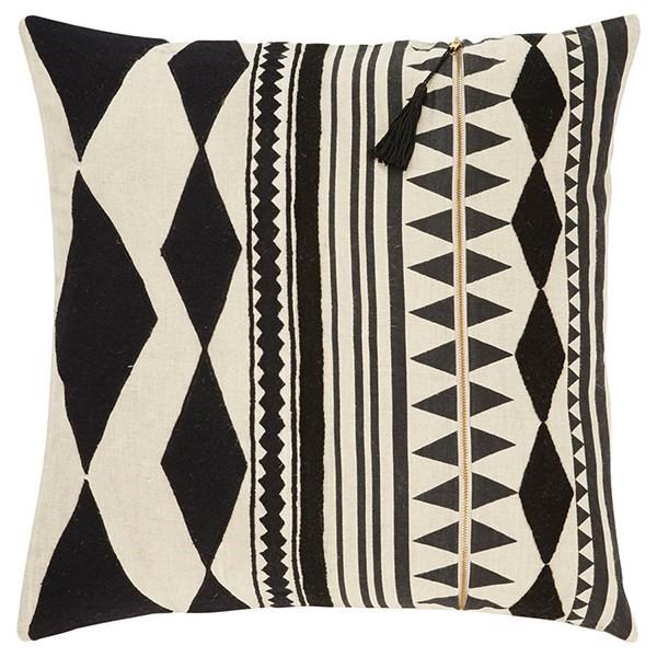 Beige, Black Southwestern / Lodge pillow