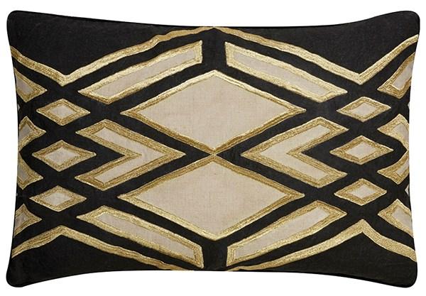 Oatmeal, Jet Black Transitional pillow