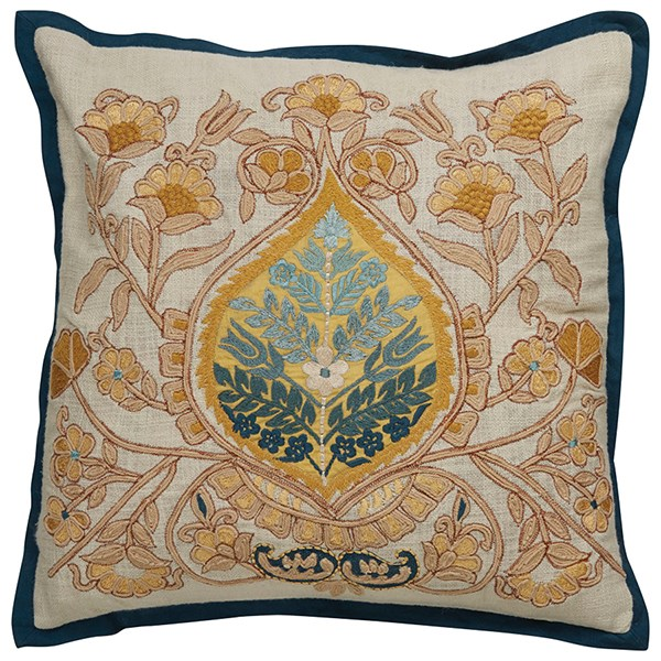 White Swan, Yellow Tan Traditional / Oriental pillow