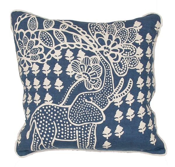Moonlight Blue, White Asparagus Casual pillow