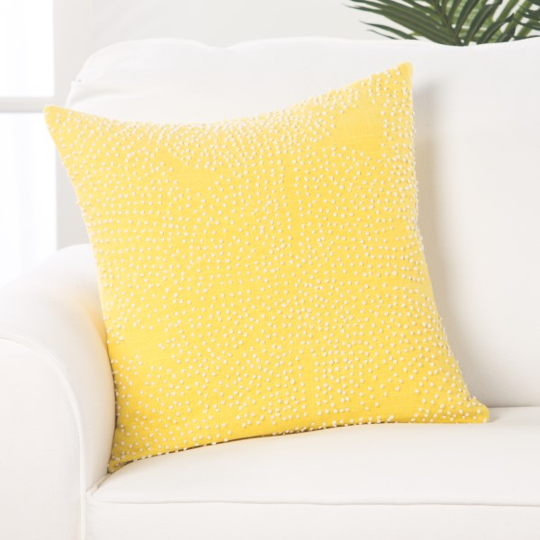 Yellow, White Contemporary / Modern pillow